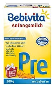 Bebivita PRE Anfangsmilch, 4er Pack (4 x 500 g)