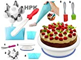 #6: Cake Decoration Tools Set Decorating Turn Full Rotating Round Table with accessories