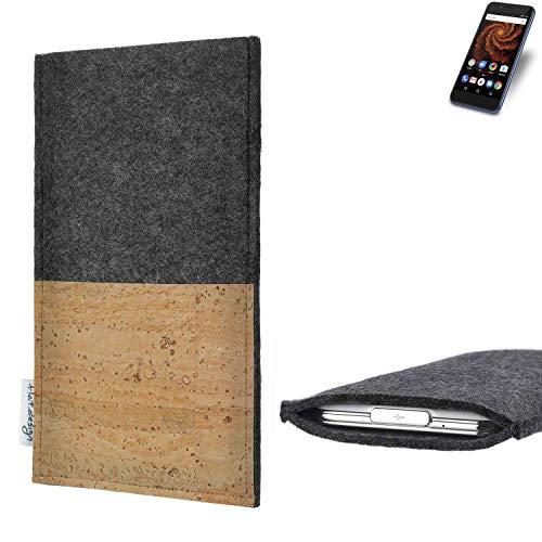 flat.design vegane Handy Hülle Evora für Allview X4 Soul Mini S Kartenfach Kork Schutz Tasche handgemacht fair vegan