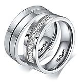 Aeici 6Mm König Und Königin Ringe, Seine Und Ihre Personalisierte Gravur Ringe, Paare Ring-Sets Größe 54 (17.2) & 57 (18.1)
