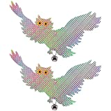 NouveLife Lot de 2 Répulsif Oiseaux Effaroucheur Oiseaux Forme d'Aigle Réfléchissant Lumineux avec le Soleil Clochette et Fil Fournis Suspension Décorative pour Potager Ferme Jardin
