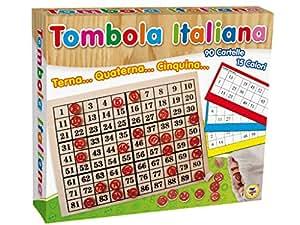 Teorema 40423 - Gioco Tombola, Tabellone in Legno, 90 Cartelle