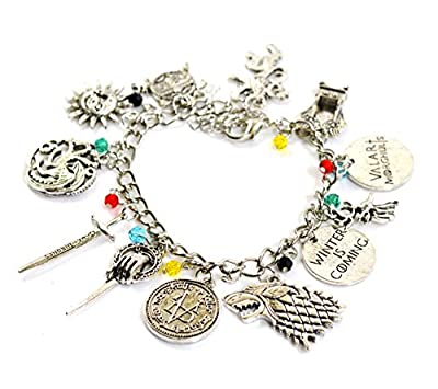 Game of Thrones Charm Bracelet - GOT Jewellery - Stark, Lannister, Targaryen Charms