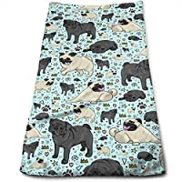 Toallas, Toallas de playa, Beach Towel, Hand Towels, Pug Life Multi-