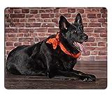 Liili Mauspad Naturkautschuk Mousepad Bild-ID: 29366639schwarz Hund mit einem Kopftücher
