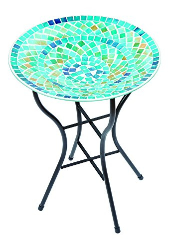 Gardman A04377 Mosaic Bird Bath - Blue