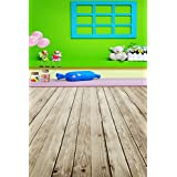 A.Monamour Green Screen Wall Fabric Vinyl Mural Kids Interior Room Decoration Wood Floor Drops Studio Photography Backdrops