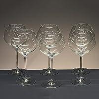 Scatola di 6 calici in cristallo per il vino o
