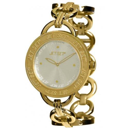 Jet Set J55978-742 - Reloj analógico de Cuarzo para Mujer con Correa de Acero Inoxidable, Color Dorado