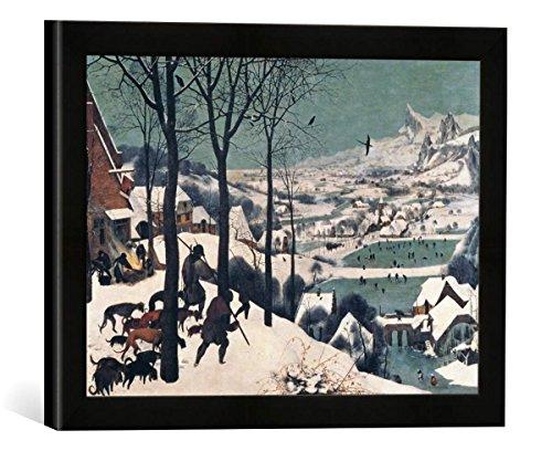 Gerahmtes Bild von Pieter Bruegel der Ältere Hunters in The Snow - January, 1565