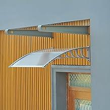 Marquesina de Techo Toldo Dosel Proteccion Puerta Exterior Ventana Transparente 3 Modelos (Modelo 1: 150x100x25,5cm)