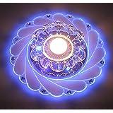 LED Kristall Deckenleuchte Farbwechsel Crystal Decken Pendent Lampen Einbauleuchten Kronleuchter Für Flur Schlafzimmer Arbeitszimmer / Büro Esszimmer Kinderzimmer Korridore Foyer Wohnzimmer Balkon,WhiteBlue-Srew