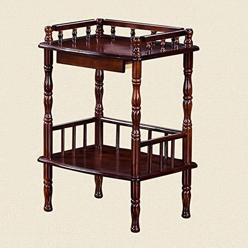 YueQiSong Regal-Ende-Tabelle, Hölzerner Beistelltisch Mehrzweckkleiner Raum-Tabellen-Telefon-Stand-Tabelle Hauptbüromöbel-Couchtisch -