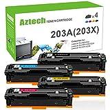 Aztech 4 pezzi Toner Compatibile per HP Color LaserJet Pro MFP M281fdw MFP M281fdn M280nw M254dw M254nw M281 M254 M280 per HP 203X 203A CF540A CF540X CF541A CF542A CF543A Toner Stampante Multifunzione