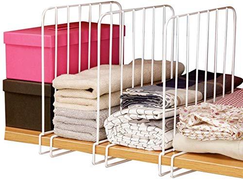 Divisorio per mensole da armadio, separatore e organizzazione, in camera da  letto, bagno, cucina e ufficio, facile da installare, sistema di ...