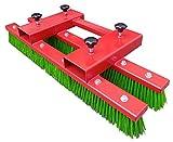 BBT@ | 100cm Stapler Kehrbesen Staplerbesen Anbaugerät Besen für Stapler Rot