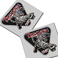Twisted Melon Triumph Tiger Explorer badge style graphics decals stickers x 2 small size