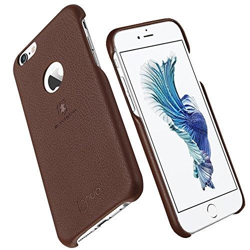 Wkae Lenuo Litchi Texture PU + PC Paste Skin Schutzhülle für iPhone 6s Plus ( Color : Rose gold ) Brown