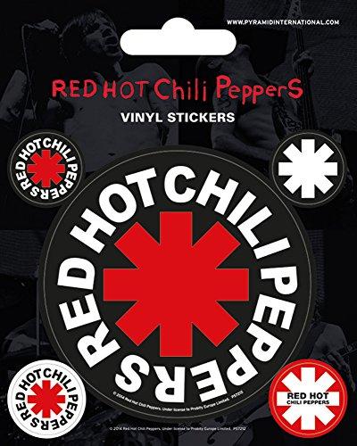 empireposter Red Hot Chili Peppers - Logo - Stickerset Set 5 Sticker Aufkleber - Grösse ca. 10x12,5 cm (Red Hot Chili Peppers-logo)