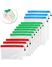 ROSENICE 12pcs Reusable Mesh Produce Bags Washable Eco Friendly Bags For Grocery Shopping Storage Fruit Vegetable...