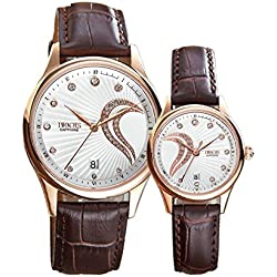 Couple watches/ strap waterproof watch/Casual fashion watches-A