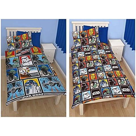 Star Wars - Juego nórdico oficial de la Fuerza de Star Wars (colcha, juego de cama y funda de almohada