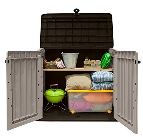Keter 17197253 Aufbewahrungsbox Woodland, Kunststoff, Beige/Light Maroon - 7