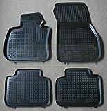 ZentimeX Z744669 Schalenmatten fahrzeugspezifisch mit Anti-Rutsch-Noppen (Durchmesser circa 18mm) schwarz
