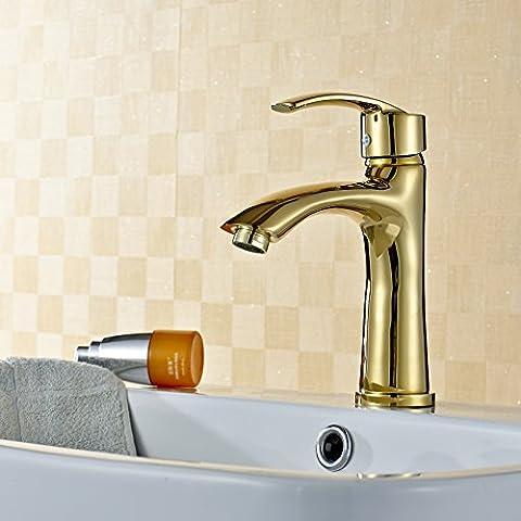Hopo copper-elegant per lavabo top a forma di vino vetro contemporaneo ti-pvd finitura bagno lavello rubinetto rubinetto miscelatore Rubinetti placcati in oro–alta moda atmosfera Miscelatore per lavabo