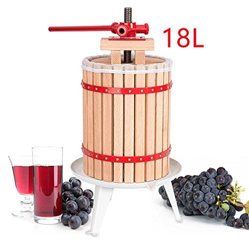 WIS Hengda® 18 Liter Obstpresse Presse Obstpresse Saft Weinpresse Beerenpresse Apfelpresse Maischepresse mit Presstuch