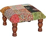 Theshopy Wooden Stool With Upholstery Si...