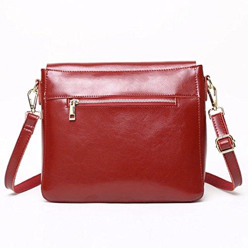 WU Zhi La Signora Primavera In Pelle Piccola Borsa Quadrata Spalla Messenger Bag Red