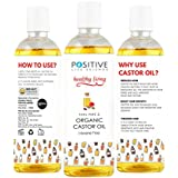 Positive Castor Oil For Hair & Beard Growth [200 ML] | Pure And Organic