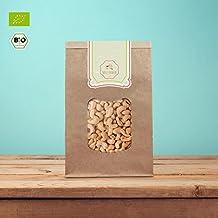 süssundclever.de® | Bio Cashewkerne, ganz | 1 kg | 100% naturbelassen | plastikfrei und ökologisch-nachhaltig abgepackt | Cashewnüsse