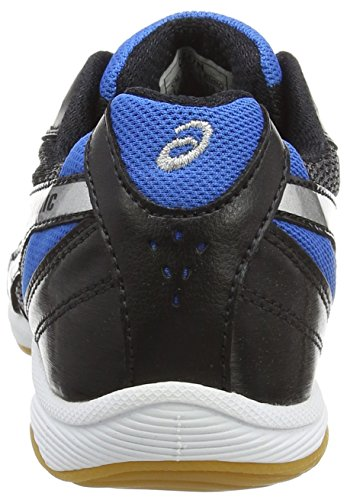 Asics - Gel-sinic Gs, Scarpe da Calcetto Indoor Unisex – Bambini Black/Silver/Blue 9043