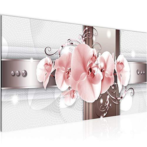 Bilder Blumen Orchidee Wandbild Vlies - Leinwand Bild XXL Format Wandbilder Wohnzimmer Wohnung Deko Kunstdrucke Rosa 1 Teilig - MADE IN GERMANY - Fertig zum Aufhängen 008312b