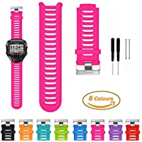 Garmin Forerunner 910XT Smart Watch Replacement Band - iFeeker Accessories Metal Buckle Adjustable Bracelet Soft Silicone Replacement Wrist Strap with Free Installation Kit Tools and Lug Adapters for Garmin Forerunner 910XT Multisport GPS Watch
