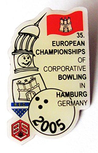 35. European Championships of Corporative Bowling - Pin 30 x 17 mm