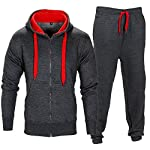 Love My Fashions® Mens Tracksuit Set Fleece Hoodie Top Bottoms Jogging Joggers