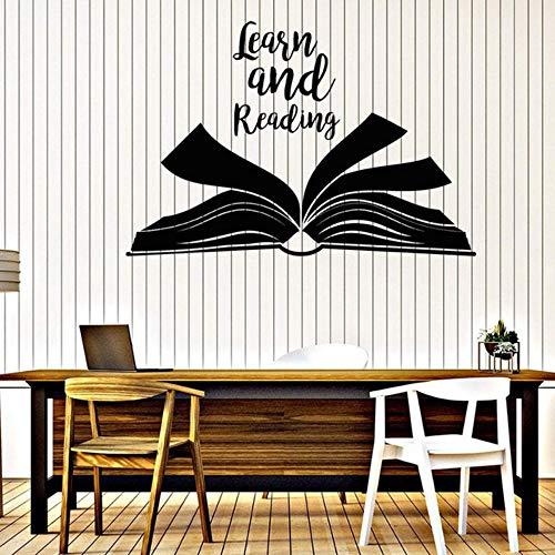Wand Vinyl Aufkleber Wort der Erbauung lernen und lesen Schulbibliothek Decor abnehmbare Kunstwand für Klassenzimmer 42x62cm