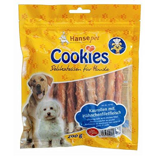 Hansepet Cane Snack Cookie delicatezza Filetto di Pollo su Chew Wrap 200G