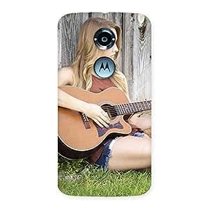 Girl Guitar Back Case Cover for Moto X 2nd Gen