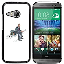 YOYOYO ( NO PARA HTC ONE M8 ) Smartphone Protección Defender Duro Negro Funda Imagen Diseño Carcasa Tapa Case Skin Cover Para HTC ONE MINI 2 M8 MINI - maleta en un lado, la lectura de noticias