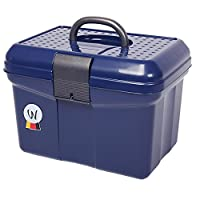 Amesbichler, cleaning/grooming box, grooming box with handle, adjustable divider, dark blue