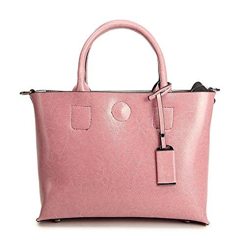Keshi Leder neuer Stil Damen Handtaschen, Hobo-Bags, Schultertaschen, Beutel, Beuteltaschen, Trend-Bags, Velours, Veloursleder, Wildleder, Tasche Pink