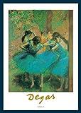 Bild mit Rahmen Edgar Degas - Ballerine blu - Holz blau, 50 x 70cm - Premiumqualität - Impressionismus, Ballett, Tänzerinnen, Soziale Einrichtungen, Flur, Treppenhaus - MADE IN GERMANY - ART-GALERIE-SHOPde