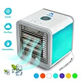 Personal Space Air Cooler, 3 in 1 Portable Cooler Air Humidifier & Purifier 2018 Update with 7 Colors Lights
