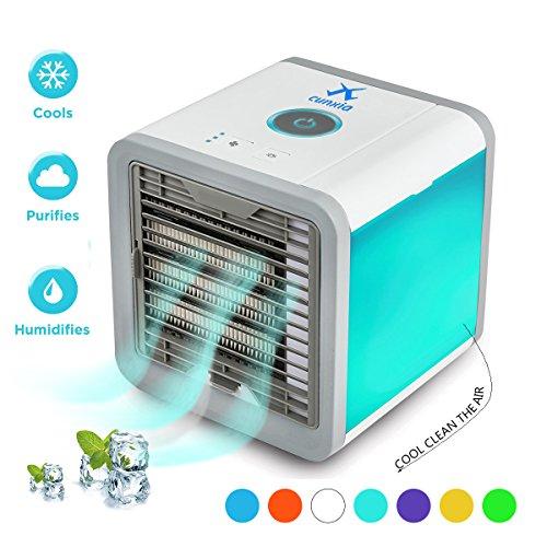 Tragbare Klimaanlage Luftkühler für Büro/Raum, Mini Mobiles Verdunstungs Klimagerät,Luftbefeuchter&Luftreiniger Ventilator mit USB Anschluß (Bitte wählen Sie Prime Einkaufswagen)