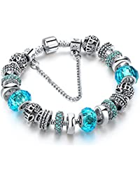 Hot And Bold Sterling Silver Plated Pandora Inspired Charms DIY Bracelet For Women/Girls.Daily/Party Wear Fashion...