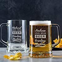 Personalised Pint Glass Tankard/Engraved Pint Glass/Beer Gifts For Men/Funny Birthday Gifts/Personalised 21st birthday gifts for men / 18th 21st 30th 40th 50th